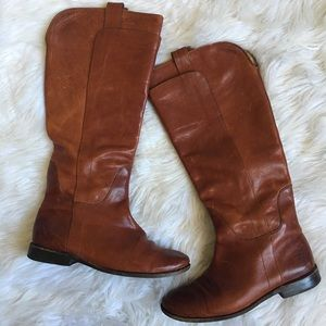 Frye Paige Knee High Cognac Leather Boot 7